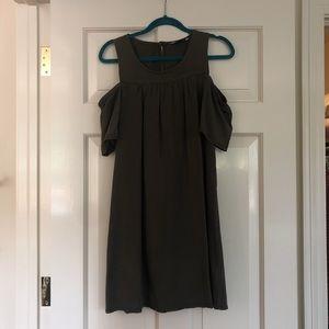Velvet Heart Olive Green Cold Shoulder Dress